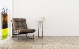 Relaje el espacio en casa Interior de la sala de estar Interior de la vendimia ilustración del vector
