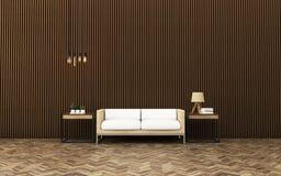 Relaje el espacio en condominio Interior de la sala de estar ilustración del vector