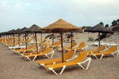 Relaje la escena de la playa Imagenes de archivo