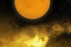 Relaje la luna La luna hermosa en nubes Imágenes de archivo libres de regalías