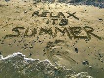 Relaje su verano foto de archivo libre de regalías