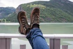 Relaksować Po Wycieczkować wycieczkę Zdjęcie Stock