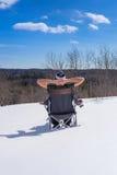 Relaksować w śniegu Fotografia Royalty Free