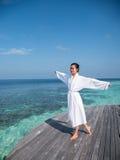 Relaksować z seascape Fotografia Royalty Free