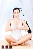 relaksu kobiety joga zdjęcie royalty free