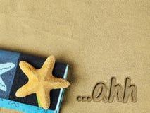 Relaksu pojęcie na plaży Obraz Royalty Free