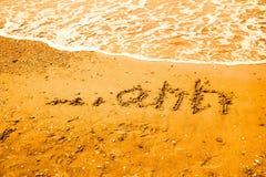 Relaksu pojęcie na plaży Obrazy Royalty Free