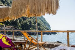 Relaksująca atmosfera na tropikalnej wyspie Wakacje fotografia zdjęcie royalty free