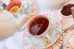 relaksująca filiżanki herbata Zdjęcia Stock