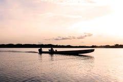 Relaksująca Kajakowa przejażdżka zdjęcie stock