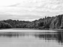 Relaksujący dzień przy jeziorem Zdjęcie Stock