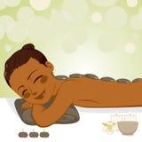 Relaksujący Kamienny masaż ilustracja wektor