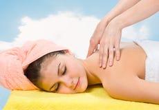 relaksujący masażu zdrój Zdjęcia Royalty Free