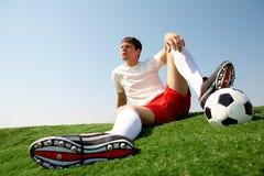 relaksujący sportowiec Zdjęcie Stock