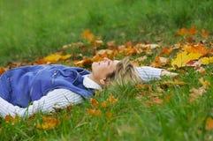 relaksujące kobiety Obraz Stock