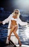 relaksujący dziewczyna jacht Obraz Royalty Free