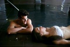 relaksujący para zdrój Zdjęcia Royalty Free