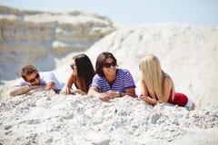 relaksujący piasek Obraz Royalty Free