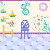 Relaksuje izbowego wnętrze royalty ilustracja