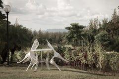 Relaksuje kąt w ogródzie Obrazy Royalty Free