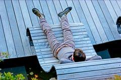 Relaksuje na Cote d ` Azur Obraz Stock