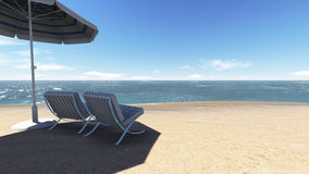 Relaksuje na plaży. Zdjęcie Royalty Free