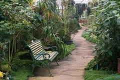 Relaksuje ogrodową ławkę Zdjęcia Stock
