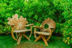Relaksuje po środku zieleni Obrazy Royalty Free