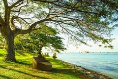 Relaksuje przy nadmorski Zdjęcie Royalty Free