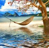 relaksuje tropikalnego Zdjęcia Royalty Free