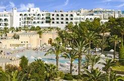 Relaksuje w hotelowym Tunis Obrazy Stock