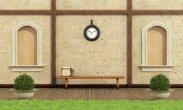 Relaksuje w klasycznym ogródzie Obraz Stock