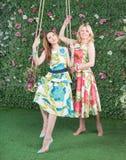 Relaksuje w lato ogródzie Obraz Royalty Free