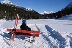 Relaksuje w Zugertal, Voralberg, Austria Zdjęcie Royalty Free