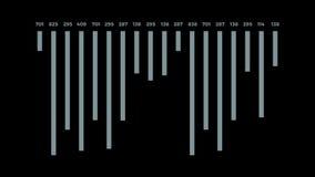 Relatório animado dos dados da análise ilustração stock