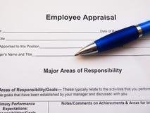 Relatório da avaliação do empregado Imagem de Stock