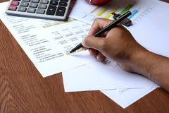 Relatório da carta de negócio Imagem de Stock