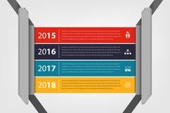 Relatório da empresa do espaço temporal & do marco miliário infographic ilustração stock