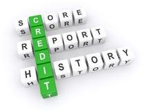 Relatório da pontuação de crédito Imagem de Stock Royalty Free