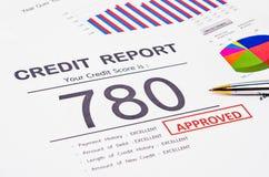 Relatório da pontuação de crédito imagens de stock royalty free
