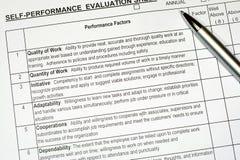 Relatório de avaliação do desempenho Fotografia de Stock