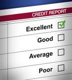 Relatório de crédito Imagem de Stock