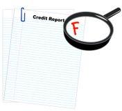 Relatório de crédito deficiente Fotografia de Stock