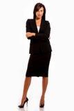 Relatório de espera da mulher de negócio Imagem de Stock