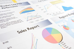 Relatório de vendas Foto de Stock