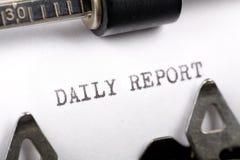 Relatório diário Fotografia de Stock Royalty Free
