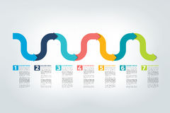 Relatório do espaço temporal de Infographic, molde, carta, esquema Fotografia de Stock Royalty Free