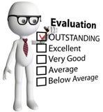 Relatório do formulário de avaliação da verificação do gerente do professor ilustração stock