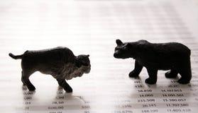 Relatório do mercado de valores de acção Imagens de Stock Royalty Free