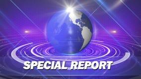 Relatório especial do fundo abstrato do globo ilustração royalty free
